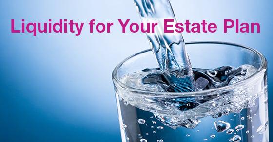 Liquidity estate taxes