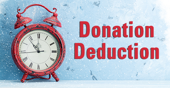 year-end charitable deduction