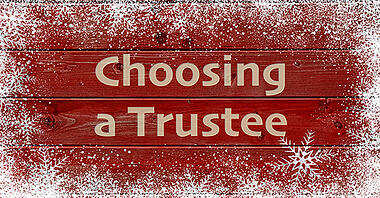 Appointing Right Trustee