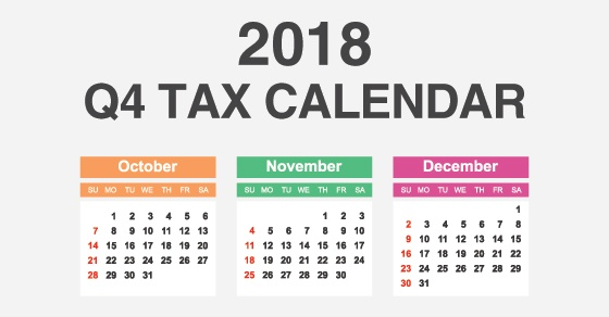 useful tax calendar